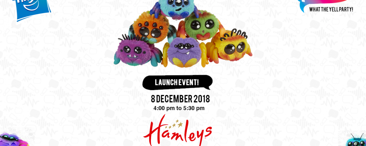 Hasbro invites to celebrate the launch of Yellies at the Fuzziest 'WHAT THE YELL PARTY'