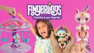 Wowwee fingerlings - make them sing, blink, burp and fart twirl a whirl playset Kyrascope