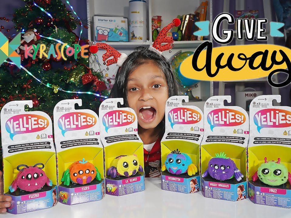 Kyra's Yellies spider Surprise : Launch Unboxing and Giveaway