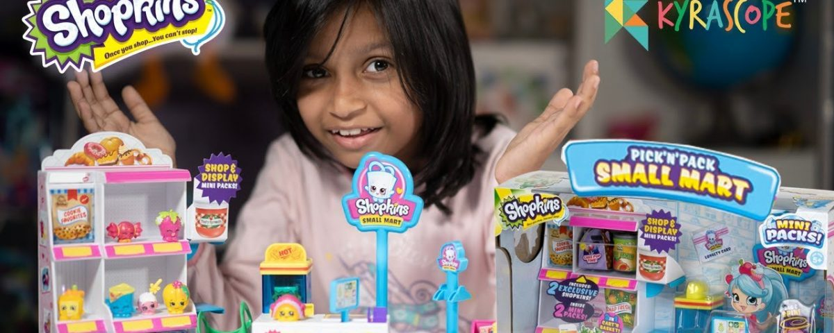 Unboxing Shopkins Pick n Pack Small Mart Kyrascope Toy Reviews : winMagic Toys India