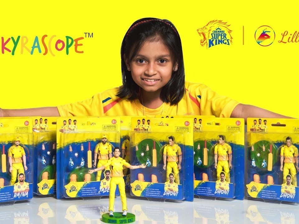 Chennai Super Kids Action Figures, Dhoni, Raina and Jadeja: LilliputHub Toy Reviews