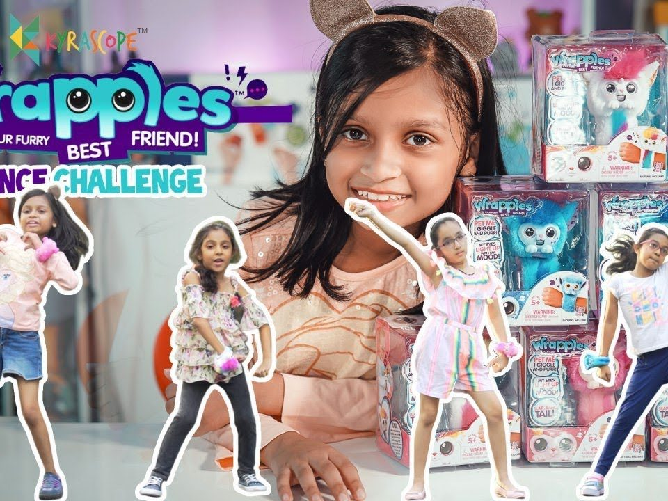 Kyrascope Kids Dance Challenge with Wrapples the Interactive Friends #WrapplesDanceChallenge