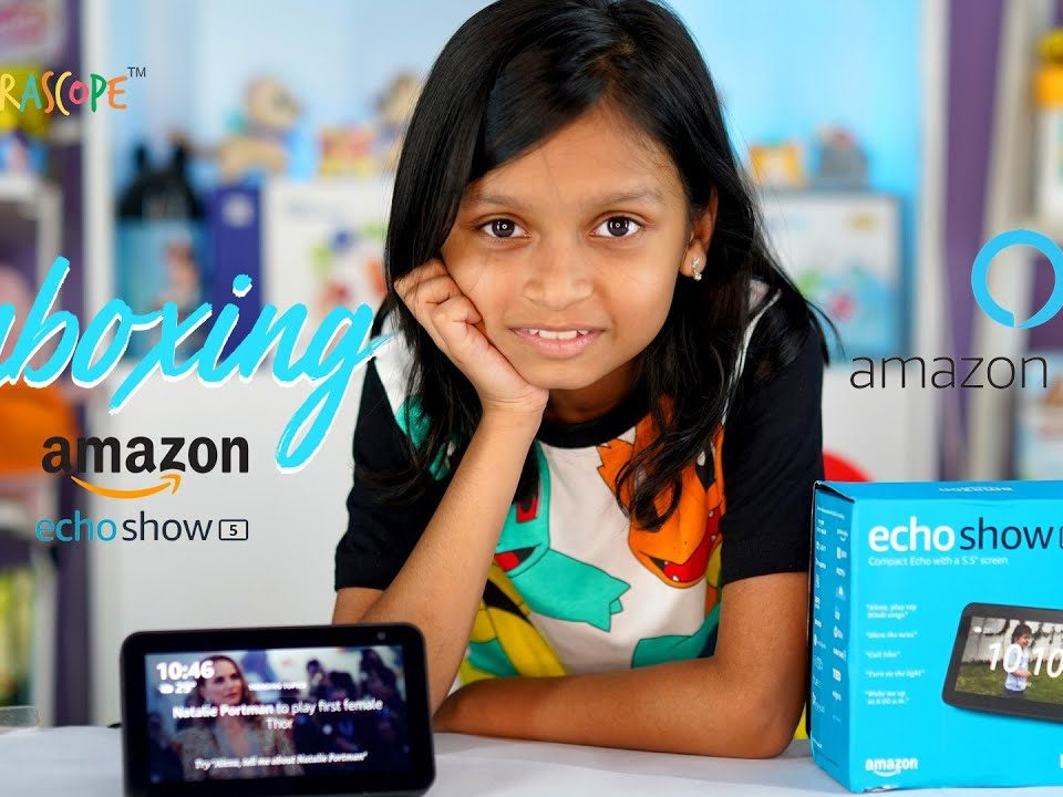Unboxing and Playing with the new Amazon Alexa Echo Show 5 : Kyrascope Toy Reviews India