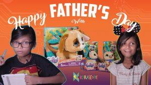 Kyra Celebrates fathers Day with Hasbro FurReal Walkalots Big Wag and Lil Wags